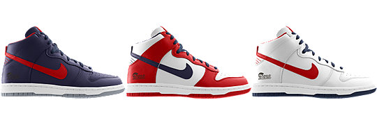 Nike Dunk High (NFL New England Patriots) iD