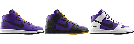 Nike Dunk High (NFL Baltimore Ravens) iD