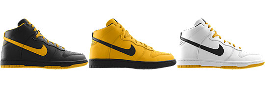 Nike Dunk High (NFL Pittsburgh Steelers) iD