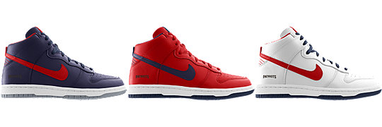 Nike Dunk High (NFL New England Patriots) iD Kids'