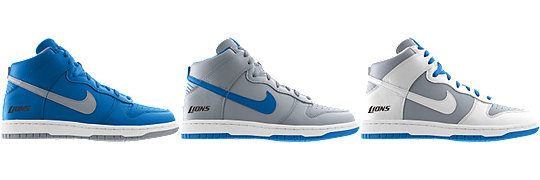Nike Dunk High (NFL Detroit Lions) iD