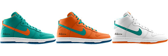 Nike Dunk High (NFL Miami Dolphins) iD
