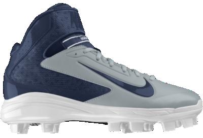 huge discount 4a65e a9272 Nike Air Huarache Pro Mid MCS iD Custom Mens Baseball Cleats Grey