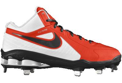 Nike Shox MVP Elite 3 4 Metal iD Custom Mens Baseball Cleats Orange ... 76e4e6a9a