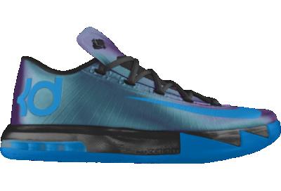 new products 355c7 42d60 KD VI CHROMA iD Custom Womens Basketball Shoes Blue