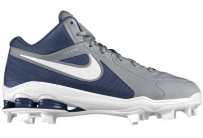 Cheap Nike Shox MVP Elite 3 4 MCS iD Custom Men s Baseball Cleats - Grey a178af6c4