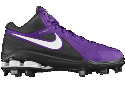 Cheap Nike Shox MVP Elite 3 4 MCS iD Custom Men s Baseball Cleats - Purple 31917a49d
