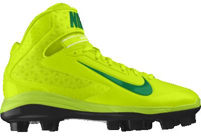 8bc8274723f Nike Air Huarache Pro Mid MCS iD Custom Kids Baseball Cleats (4y 6y) Yellow