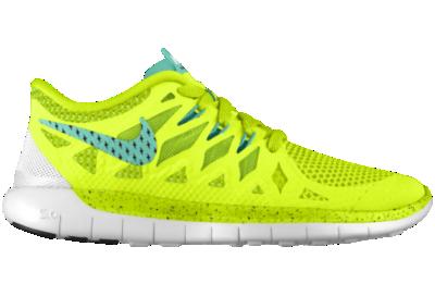 promo code 8989d 173ee Nike Free 5.0 iD Custom Kids Running Shoes (3.5y 6y) Yellow ...