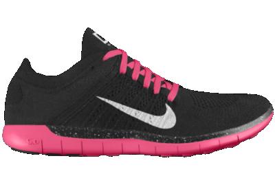 1966f154cf14 Nike Free 5.0 Flyknit Hybrid iD Custom (Wide) Womens Running Shoes Black