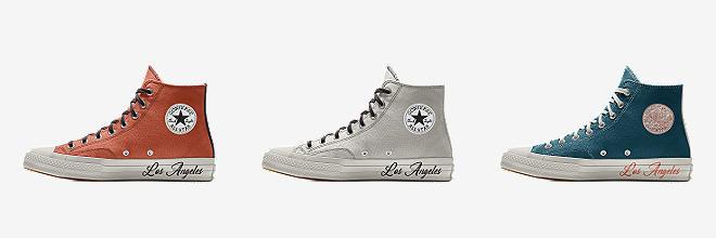 converse custom pro leather mid top