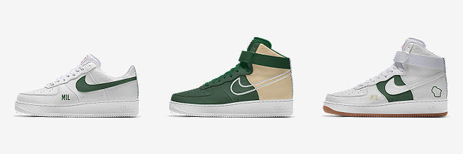 hot sale online 5910b 3ad72 CUSTOMISE CUSTOMISE IT WITH NIKE BY YOU. Prev. Next. 4 Colours. Nike Air  Force 1 Low Premium iD (Milwaukee Bucks)
