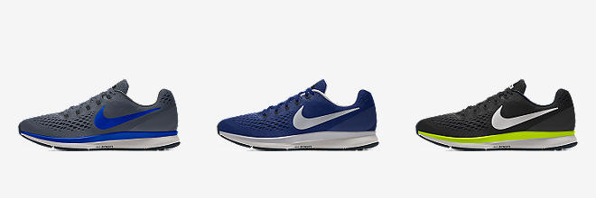 Customize Men's Nike Blue Running Shoes