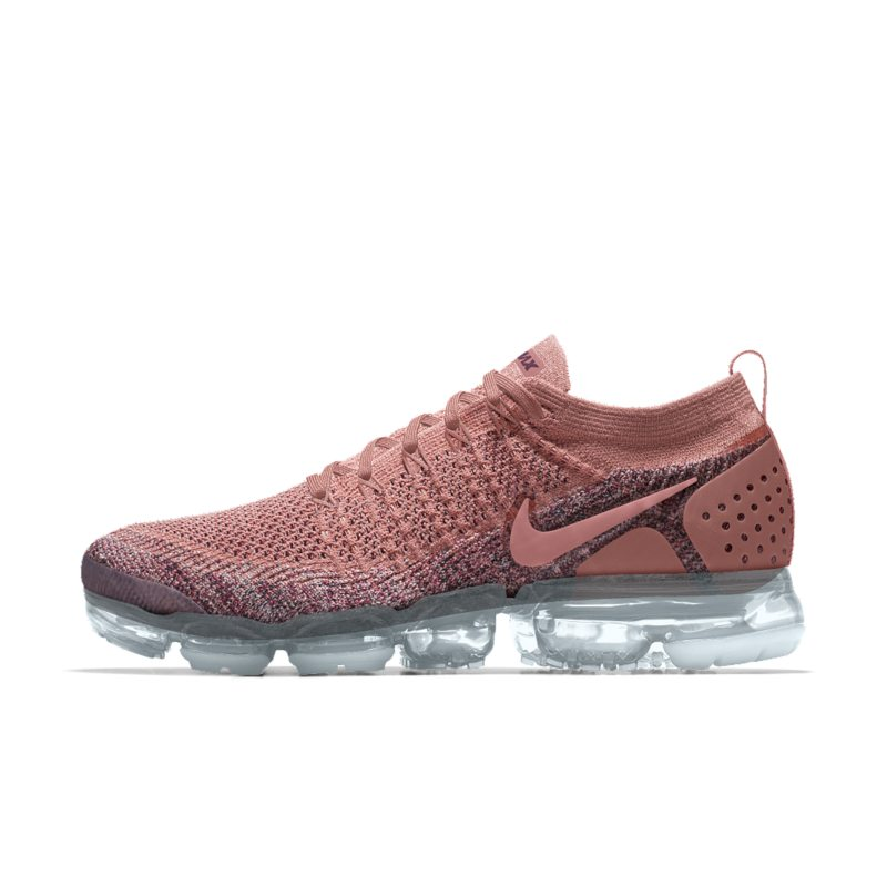 super popular 53e1e 39cd0 Nike Air VaporMax Flyknit 2 iD Women s Running Shoe - Pink Image