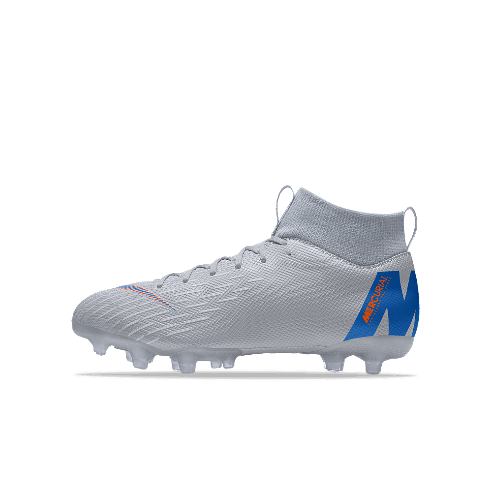 more photos d651b aaa6e Check out Nike Jr. Mercurial Superfly VI Academy MG iD Big Kids'  Multi-Ground Soccer Cleats Size 3Y (Grey) - ShopYourWay