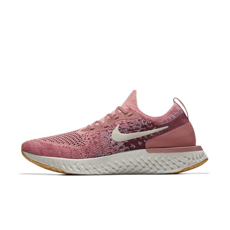 b6d6e39b Nike Epic React Flyknit iD Women's Running Shoe - Pink | AJ7286-661 ...