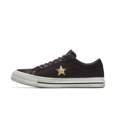 ... wholesale price 37ed6 2b567 Converse custom one star glitter low top  womens shoe tif 1000x1000 Black ... d827c286bb5e