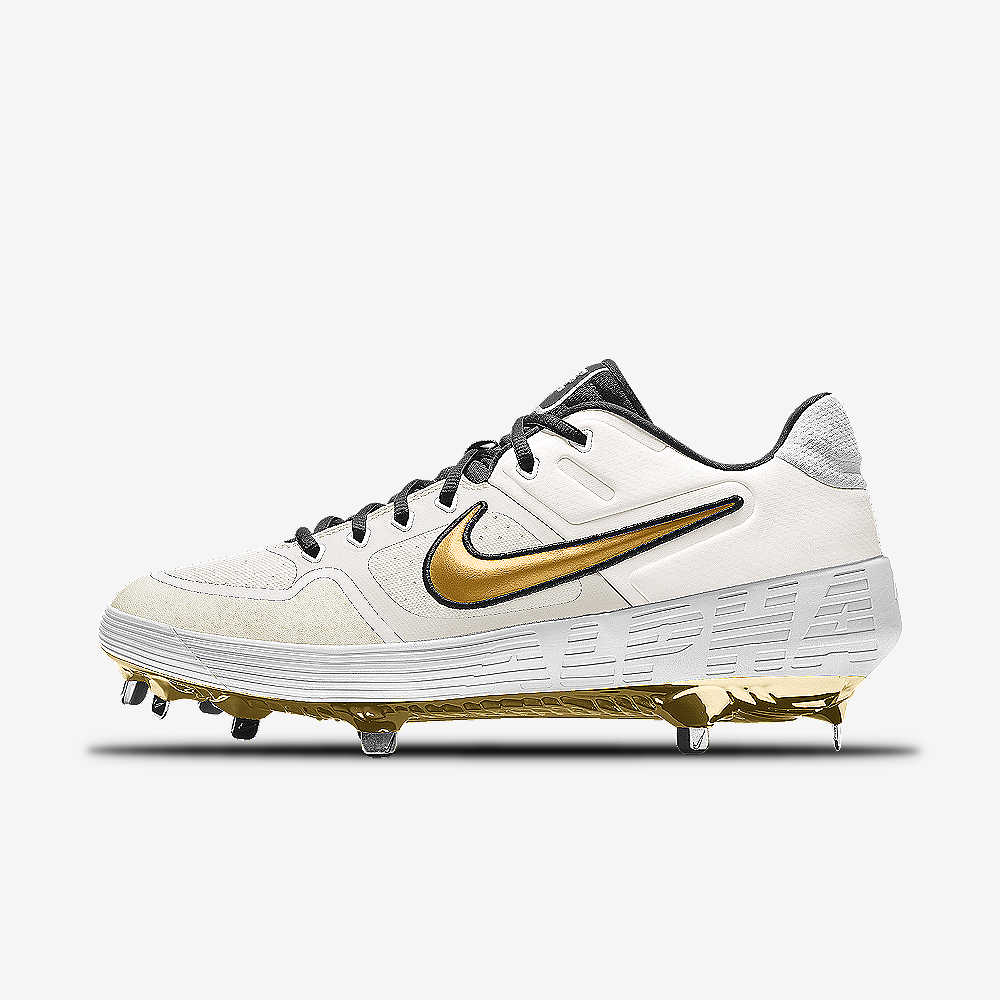 new products d3425 e1c72 Nike Alpha Huarache Elite Low Premium By You Custom Baseball Cleat
