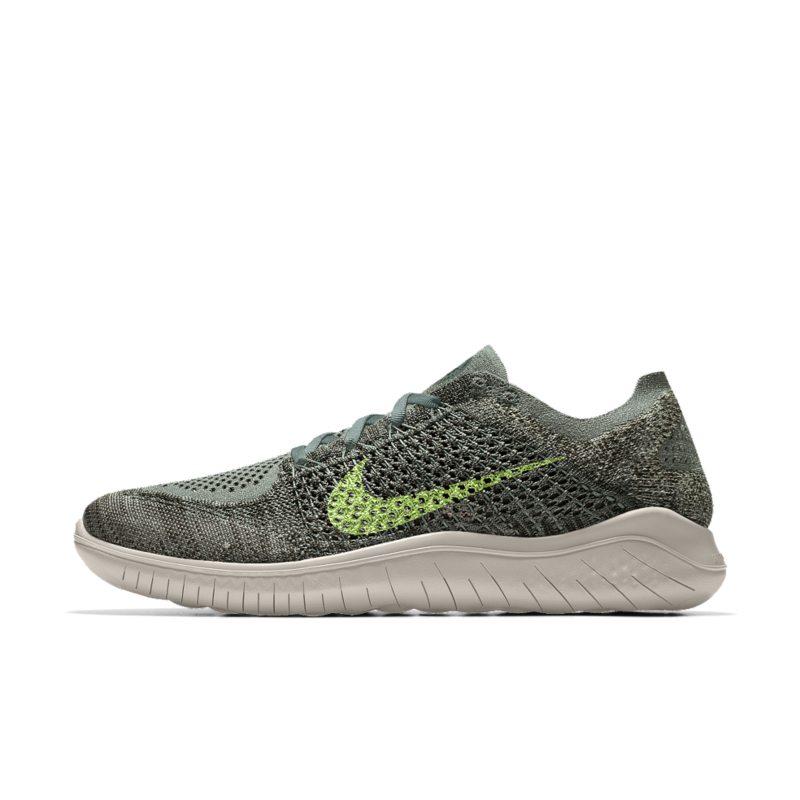 Nike Free RN Flyknit 2018 iD Men's Running Shoe - Green