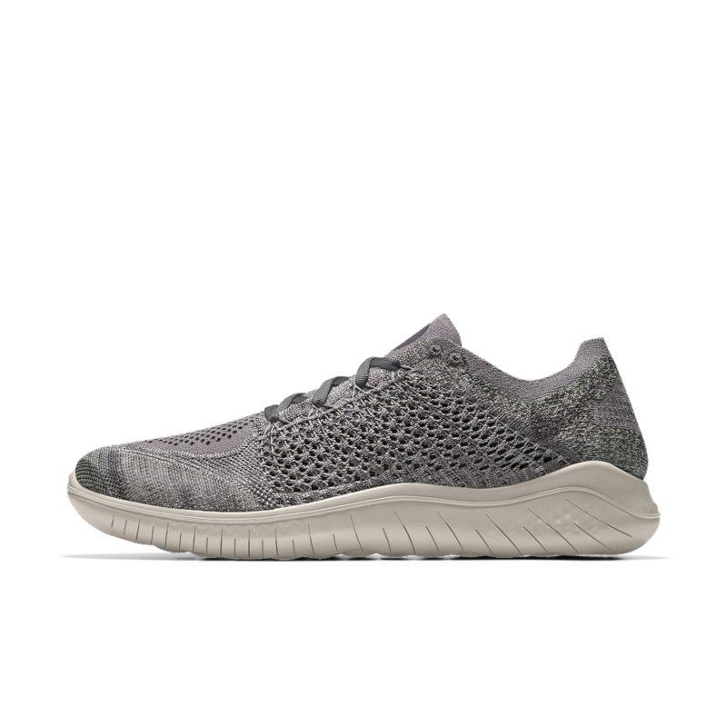 Nike Free RN Flyknit 2018 iD Men's Running Shoe - Grey