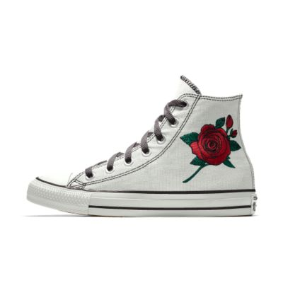 7df9e89b3dce Converse custom chuck taylor all star rose embroidery high top shoe tif  1000x1000 Converse designs