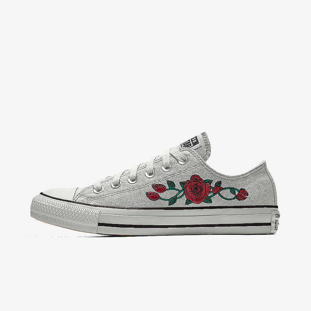 cbee8689f953bb ... france converse custom chuck taylor all star rose embroidery low top  shoe 69820 8c0ac