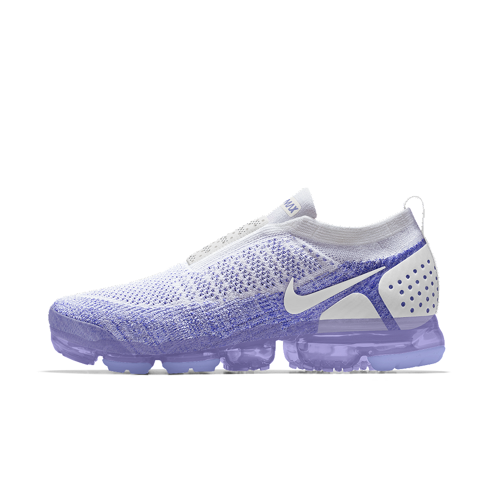 free shipping 44e3a 7aac4 Nike Air VaporMax Flyknit Moc 2 iD Women s Running Shoe Size 5 (Purple)