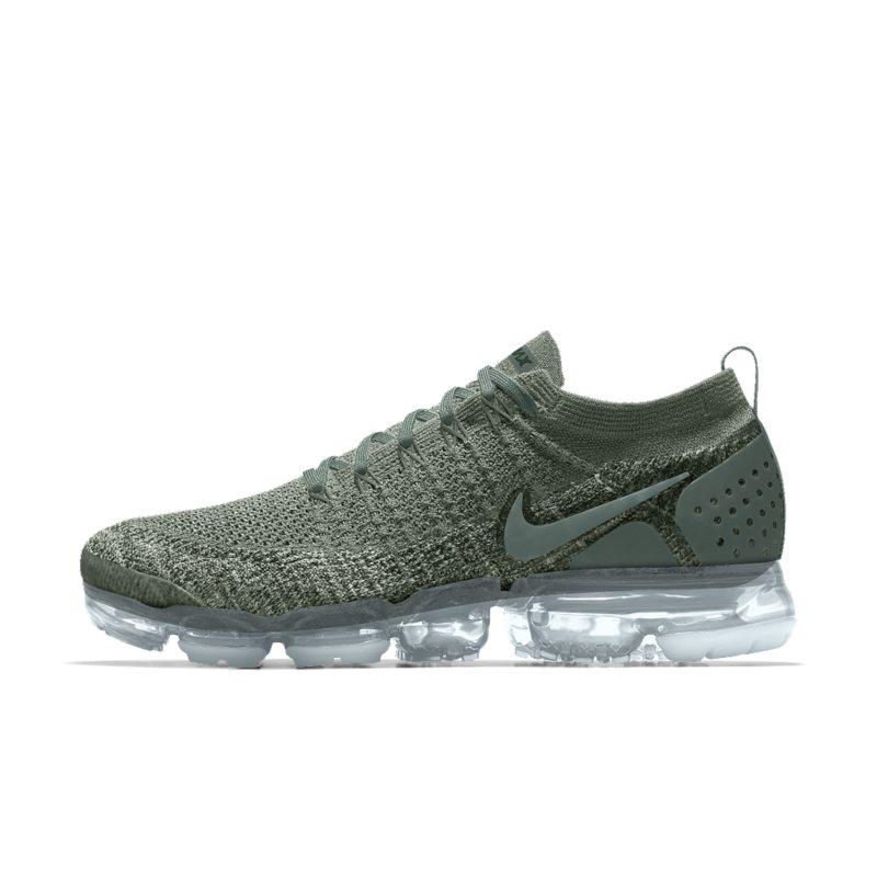 sports shoes 34801 526d2 Nike Air VaporMax Flyknit 2 iD Mens Running Shoe - Green Image