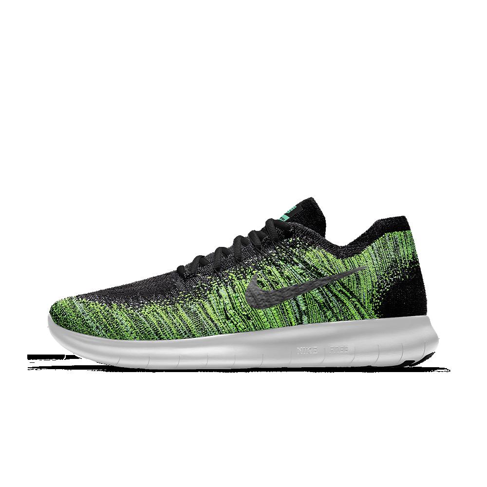 f36bfd1f7f96b Nike Free RN Flyknit 2017 iD Men s Running Shoe Size 15 (Green ...